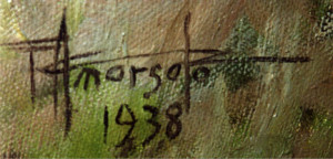 Artist Fernando Amorsolo's Signature
