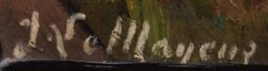 Artist Jean Le Mayeur's signature