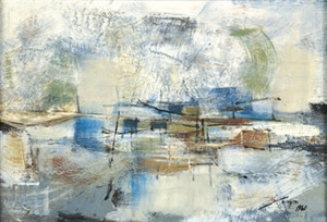 """Jose Joya, """"Untitled,"""" 1960, approx. 16 x 24 inches, oil on canvas"""