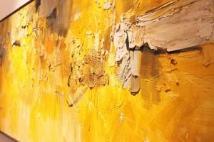 "Side view of the impasto of Joya's ""Granadian Arabesque"""