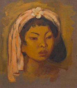 Theo Meier, Portrait of Djuplik, a young Balinese woman, 1938